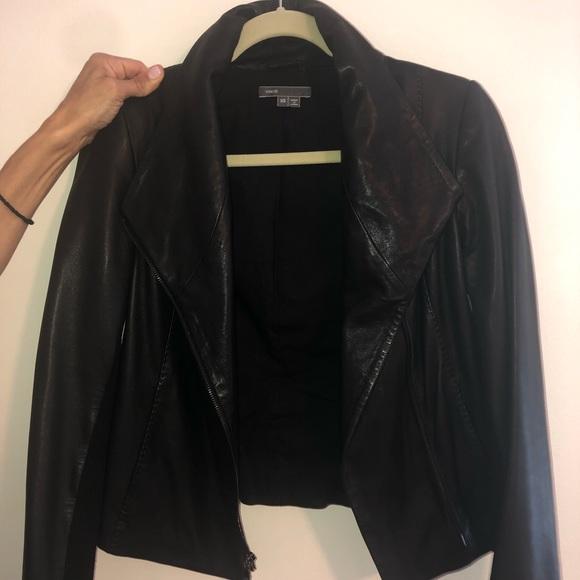 Vince Jackets & Blazers - Vince Black Leather Jacket Size XS WORN 4 TIMES